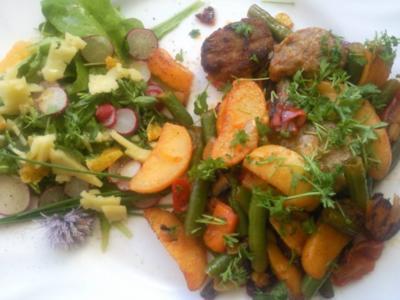 schneller Blattsalat mit Radieschen - Rezept