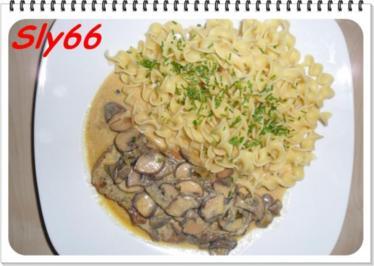 Fleischgerichte:Champignon-Rahmschnitzel - Rezept