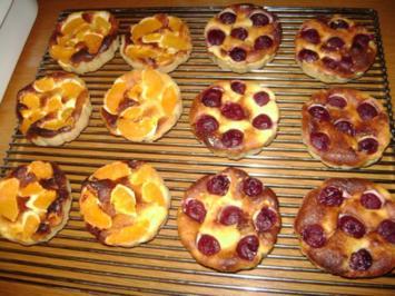 Kleine Käsekuchen mit Obst - Rezept