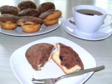 """Schoko-Muffins - kräftiges Schoko-Chips-Herz in zartem Vanillemantel oder """"Kuchen im Glas"""" - Rezept"""