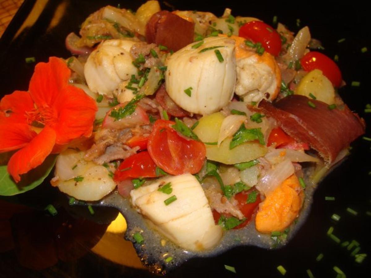 Bilder für Fisch : - Jacobsmuschel - Thunfischschinken -Kartoffelsalat - Rezept