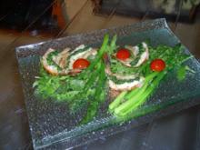 Grüner Spargelsalat mit Black Tiger Prawns - Rezept