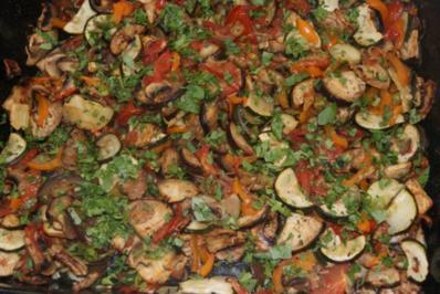 Gemüse vom Blech - Rezept