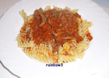 Kochen: Rindsgeschnetzeltes mit Tomatensauce - Rezept