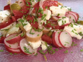 Radieschensalat mit Wiener Würstchen - Rezept