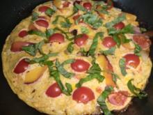 Frittata mit Speck, Tomätchen und Nektarine - Rezept