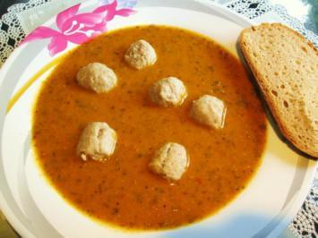 Suppe aus Rucola und Tomaten ... - Rezept