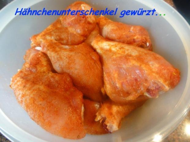 Geflügel:   HÄHNCHENUNTERSCHENKEL - Rezept - Bild Nr. 2