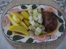 Rind : Rouladen mit Kohlrabigemüse und Salzkartoffeln - Rezept