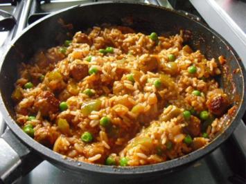 schnelle Reispfanne - Rezept