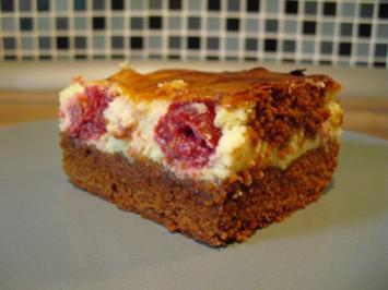 Kirsch-Käsekuchen-Brownies - Rezept