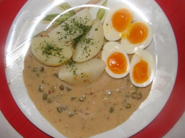 - Eier in Kapernsauce - - Rezept