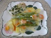 Fisch : Kabeljau auf Gemüsegratin - Rezept