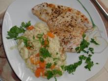 Pute : Putenfilet mit Spargel-Karotten-Risotto für Herz und Seele - Rezept
