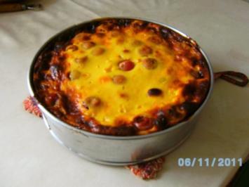 Süßkirschenkuchen mit Rahmguss - Rezept