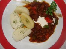 Fleisch : -Schweinegulasch- Szegediner Art - - Rezept