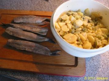 Hauptgericht - Neuer Matjes im und am Kartoffelsalat - Rezept