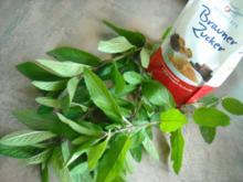 Dunkler Minz-Sirup - Rezept
