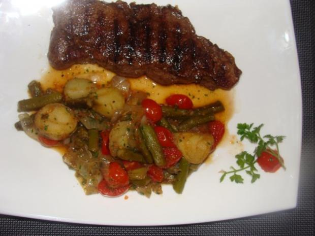 Salat :- Warmer Spargel-Tomaten-Kartoffelsalat- - Rezept