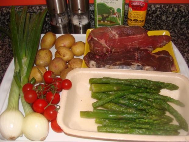 Salat :- Warmer Spargel-Tomaten-Kartoffelsalat- - Rezept - Bild Nr. 3