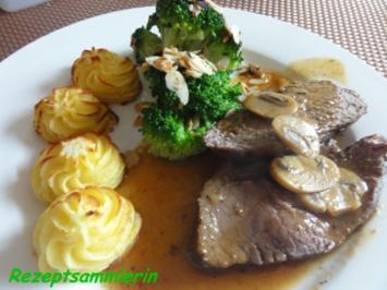 Fleisch:   RINDER - STEAKHÜFTE an Pilzsauce - Rezept