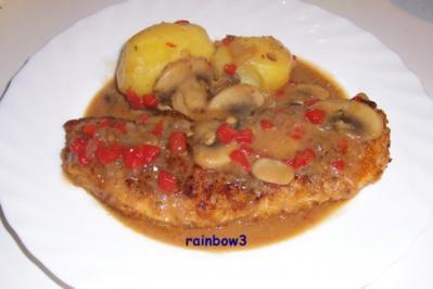 Kochen: Panierte Schnitzel mit Jägersauce - Rezept