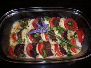 Mozzarella- Tomaten-Frikadellen - Rezept