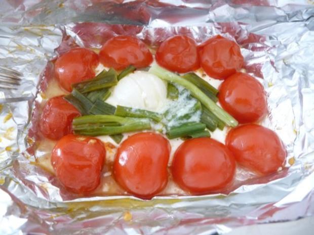 Grillen : Fetakäse vom Grill mit Baguett - Rezept