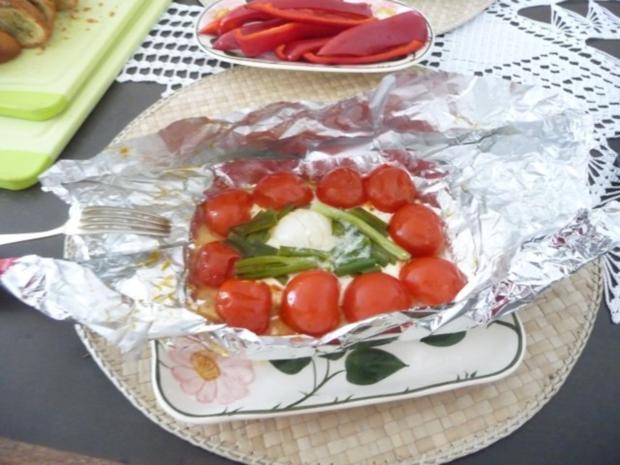Grillen : Fetakäse vom Grill mit Baguett - Rezept - Bild Nr. 2