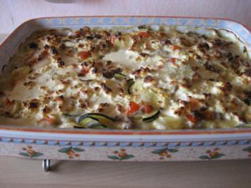 Zucchini-Hackfleisch Gratin mit Fetakäse - Rezept