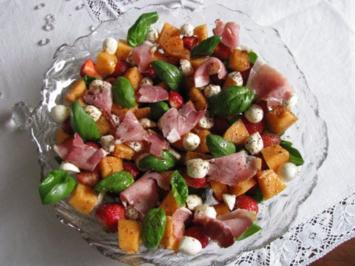 Salate: Erdbeer-Melonen-Salat - Rezept