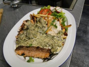 Forellenfilets in Spinatsauce - Rezept