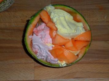 Eisiger Melonenbecher - Rezept