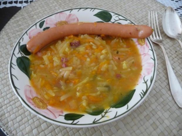 Suppen & Eintöpfe : Geraspelter Kartoffel - Möhreneintopf - Rezept