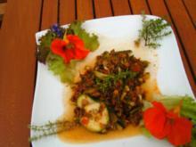 Hackfleisch--Zucchini Pfanne - Rezept