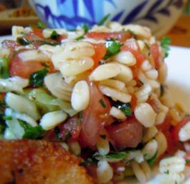 Rezept: Tomaten-Weichweizen-Salat