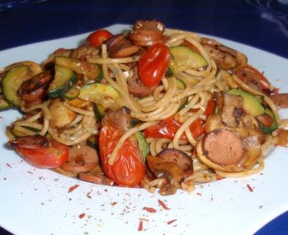 Herzhafte Gemüse-Pasta - Rezept