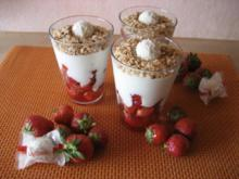 Erdbeeren mit Kokossahne - Rezept