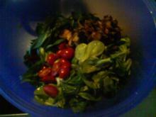 Champignon-Tomaten-Feldsalat - Rezept