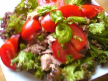 Salat-Teller mit Tunfisch - Rezept