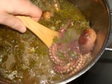 Oktopusarme gebraten -  Oktopodi - Chtapodi - Krake - Rezept