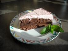 Schoko-Minze mit Erdbeer-Sahne - Rezept