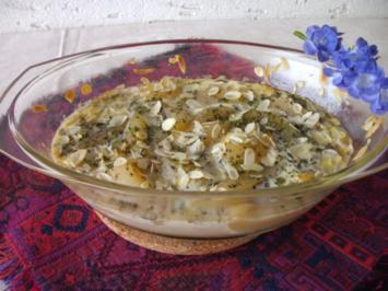 Beilage: gratinierte Camembert - Birnen - Rezept