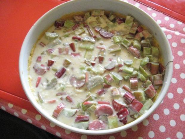 Rhabarberkuchen mit Vanillepudding und Baiser - Rezept - Bild Nr. 10