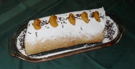 Biskuitrolle mit Mandarinen-Sahne-Füllung - Rezept