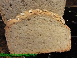 Brot:  VOLLKORN - HAFERFLOCKEN - Rezept