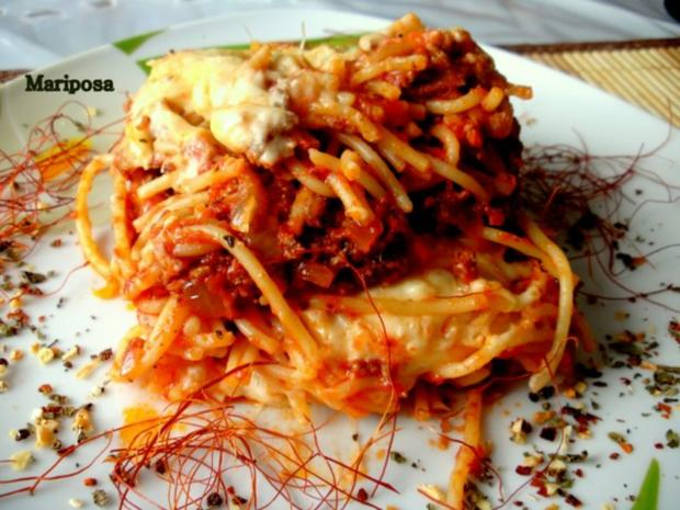 Spaghetti-Lasagne - Rezept