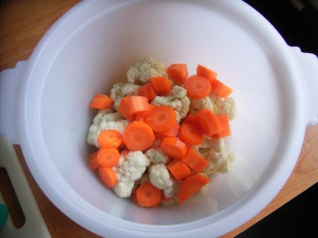 Beilage Blumenkohl-Mohrrüben-Gemüse - Rezept - Bild Nr. 3
