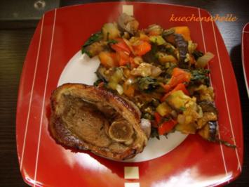 Schmorgemüse mit Lammsteak - Rezept