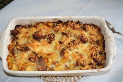 Bratwurst-Kartoffel Auflauf - Rezept